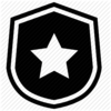 Badge with Star - Black