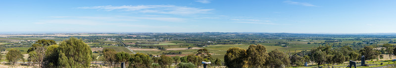 Panorama of the Barossa Valley from the Barossa Sculpture Park