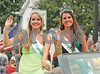 Andrew Skinner • Oceana's Herald-JournalAsparagus Queen Runner-up Erin Fisher, left, and Asparagus Queen Danielle Kokx, right, wave to the crowd as they make their way along the Pentwater Homecoming Parade route Saturday, Aug. 16.