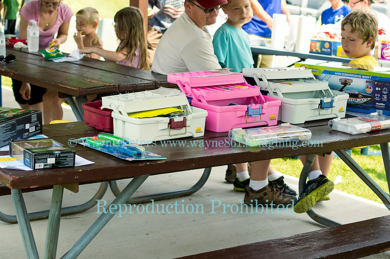 Kids fishing derby in the Town of Newfane Marina, June 28, 2014