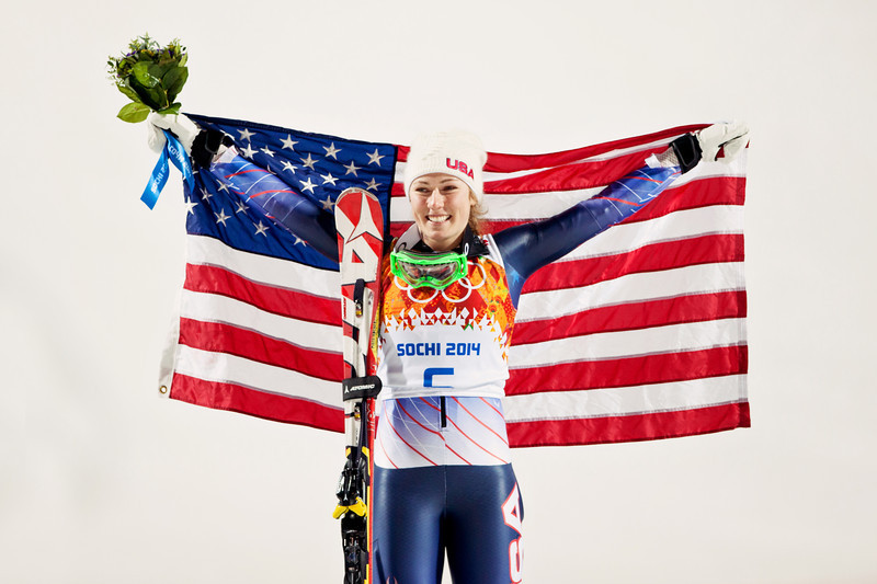 Mikaela Shiffrin 2014 Olympic Winter Games - Sochi, Russia. Mikaela Shiffrin wins Women's Slalom Photo: Sarah Brunson/U.S. Ski Team