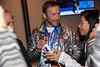 Bode Miller<br /> 2014 Olympic Winter Games - Sochi, Russia.<br /> Bode Miller and Andrew Weibrecht at USA House after medaling in Super G<br /> Photo: Sarah Brunson/U.S. Ski Team