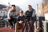 Nick Goepper, Joss Christensen and Gus Kenworthy filming with Sports Illustrated in Roasa Khutor. 2014 Olympic Winter Games - Sochi, Russia. Photo: Sarah Brunson/U.S. Freeskiing