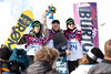 Gold Medalist, Sage Kotsenburg, Silver Medalist, Staale Sandbech, bronze medalist, Mark McMorris<br /> 2014 Olympic Winter Games - Sochi, Russia.<br /> Slopestyle Snowboarding<br /> Photo: Sarah Brunson/U.S. Snowboarding