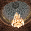 Huge chandelier in the men's section of the Grand Mosque