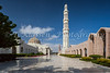 Grand Mosque buildings with minarets in Muscat, Oman.