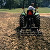 Harrowing tilled area