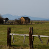 Farmland and old barn, Oregon