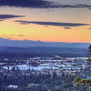 Bend from Pilot Butte in Evening