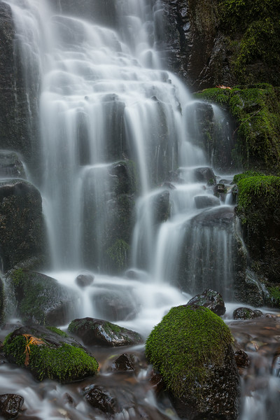 A portion of Fairy Falls. Taken in the Columbia River Gorge National Scenic Area, Oregon, USA.