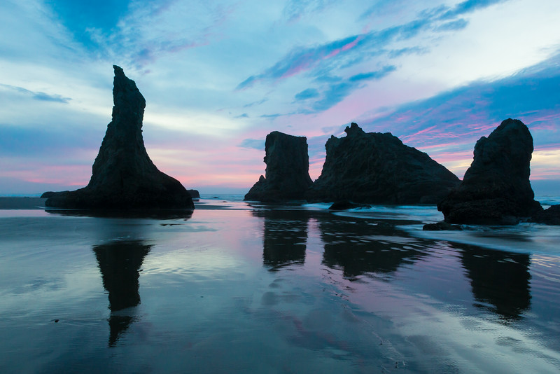 Sunset at Bandon Beach, Oregon, USA.