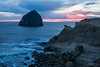 Haystack Rock from Cape Kiwanda. Taken at Cape Kiwanda State Natural Area, Pacific, City, Oregon, USA.