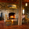 Fireplace in the Lodge, Crater Lake NP, Oregon