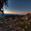 Sunset on the Trail to Watchman's Overlook at Crater Lake, Oregon
