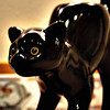 Kitty cat candle holder, PartyLite. Looks like my cat Desmond!