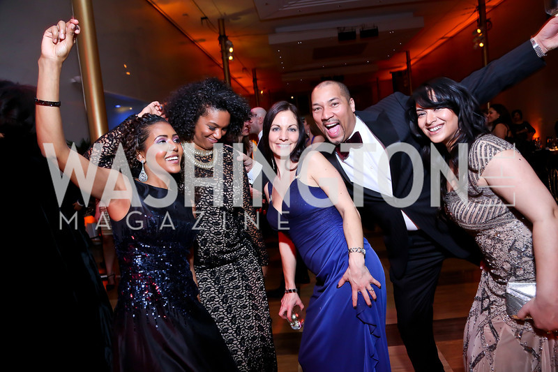 Mele Melton, Kim Tignor, Jen Arnic, Montez Anderson, Samin Malik. Photo by Tony Powell. 2014 Alvin Ailey Gala. Kennedy Center. February 4, 2014