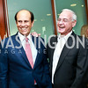 Mike Milken, Manny Friedman. Photo by Tony Powell. Milken Scholars Recognition Dinner. Elliott School, GWU. July 12, 2014