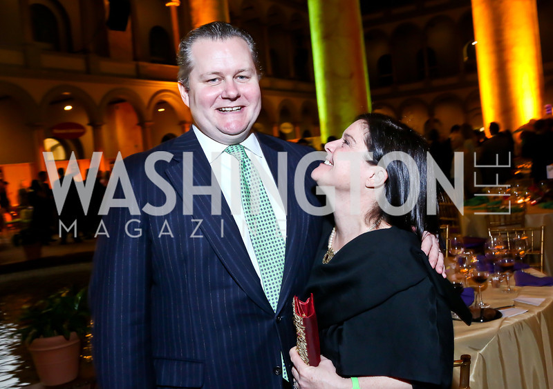 Leland and Judy Bishop. Photo by Tony Powell. 2014 St. Jude's Gourmet Gala. Building Museum. February 25, 2014
