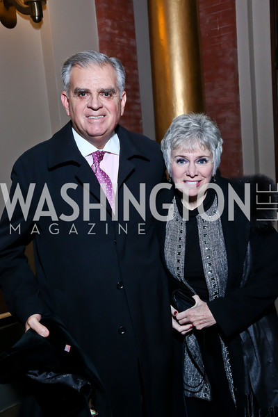 Fomer Transportation Secretary Ray LaHood and Kathy LaHood. Photo by Tony Powell. 2014 St. Jude's Gourmet Gala. Building Museum. February 25, 2014