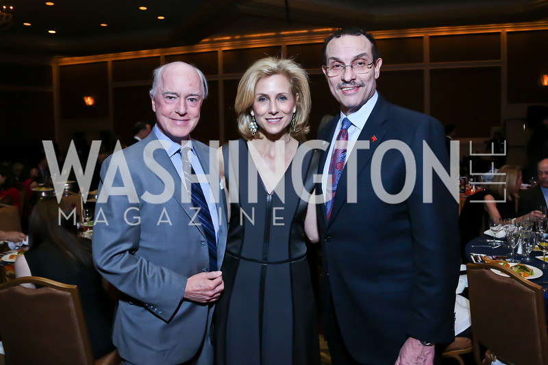 David Bradley, Katherine Bradley, Vincent Gray. Photo by Tony Powell. 2014 Teach for America Gala. Omni Shoreham. March 13, 2014