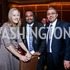Teach For America Founder Wendy Kopp, TFA Senior Vice President Kwame Griffith, Jesus Aguirre. Photo by Tony Powell. 2014 Teach for America Gala. Omni Shoreham. March 13, 2014