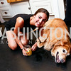 "Madeline Seiver and Kelly the dog. Photo by Tony Powell. ""American Grilled"" Premiere Party. Evans Seiver Residence. July 2, 2014"