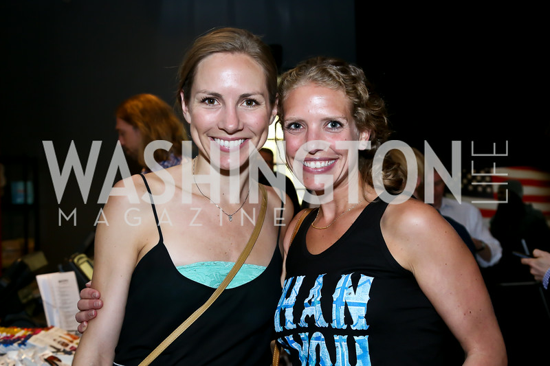 "Anne McNeal, Amelia Gingold. Photo by Tony Powell. ""American Muscle"" Screening. Angelika Pop Up. June 27, 2014"