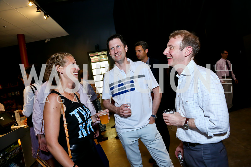 "Amelia Gingold, John McGrail, Eric Schwerin. Photo by Tony Powell. ""American Muscle"" Screening. Angelika Pop Up. June 27, 2014"