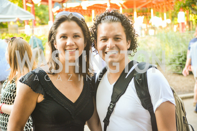 Julie Espinosa, Armando Gallardo, Brew at the Zoo, at the National Zoo, Thursday, July 17, 2014, Photo by Ben Droz