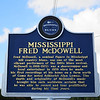 Fred McDowell Blues Trail marker