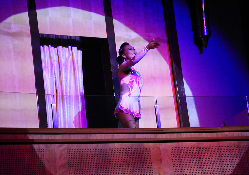 Magic show and contortionist aboard ship