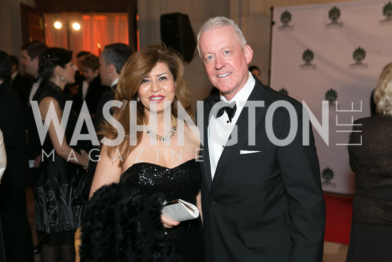 Julie Coady, Kelly Coady. Photo by Alfredo Flores. Fifth Annual Nowruz Commission Gala. Andrew W. Mellon Auditorium. March 15, 2014