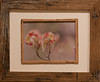 Pink Dogwoods - Framed in old reclaimed oak barn wood - Image 11 x 8 outside 20 x 16 1/2
