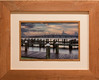 Boggy Point Boat Launch - Taken at Orange Beach Alabama - Framed in old reclaimed heart pine - Image 18 x 12 Outside 29 1/2 x 23 1/2