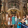 The entrance to the cave where Jesus was laid to rest before rising from the dead - in the Church of the Holy Sepulchre, Jerusalem