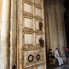 Entrance to the Church of the Holy Sepulchre, Jerusalem.  This is where Jesus was crucified and laid to rest before rising from the dead