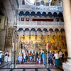 The stone where Jesus was laid after his death in the Church of the Holy Sepulchre, Jerusalem