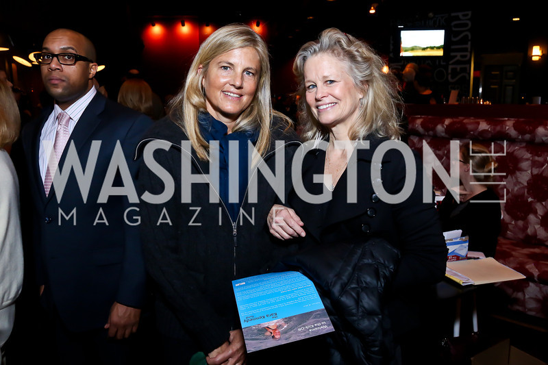 Sissy Yates, Linda Potter. Photo by Tony Powell. Kara Kennedy Fund Launch Party. Jaleo Bethesda. February 18, 2014