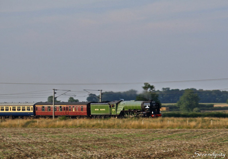 60163 Tornado<br /> <br /> 1Z91, 17:37 York - Kings Cross 'Cathedrals Express' passing Marston on 16 August 2010.  This was the first time that I'd seen Tornado in action.