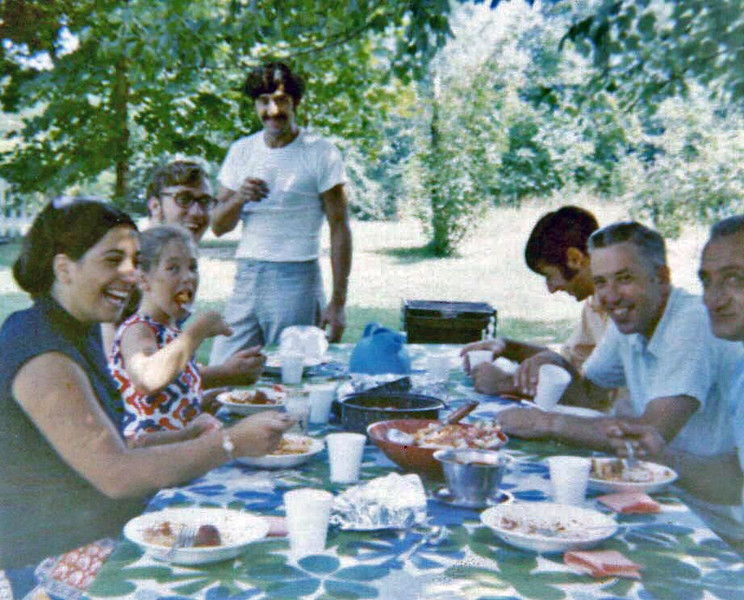 Vintage late 60's at the picnic table
