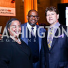 Tanya Lombard, Forest Whitaker, Lyndon Boozer. Photo by Tony Powell. Refugees International 35th Annual Dinner. Mellon Auditorium. April 30, 2014