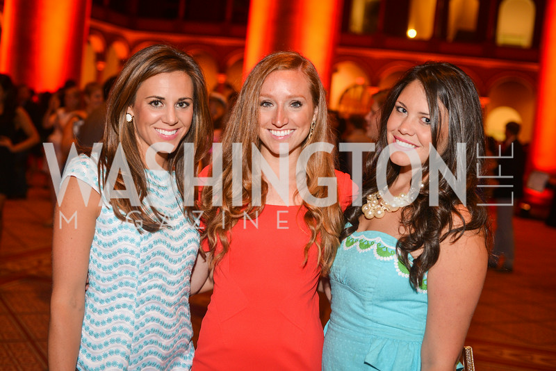 Morgan Giddings, Kelly Bauer, Lizzie Dean, 22nd Annual Sinatra Soiree, hosted by the Capital Club, at the National Building Museum, Thursday July 17th, 2014.  Photo by Ben Droz.