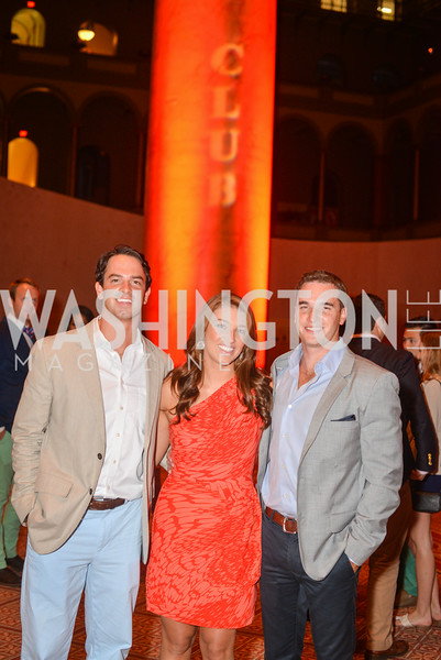 Drew Wadsworth, Ali Krukowski, Steve Diverio,  22nd Annual Sinatra Soiree, hosted by the Capital Club, at the National Building Museum, Thursday July 17th, 2014.  Photo by Ben Droz.