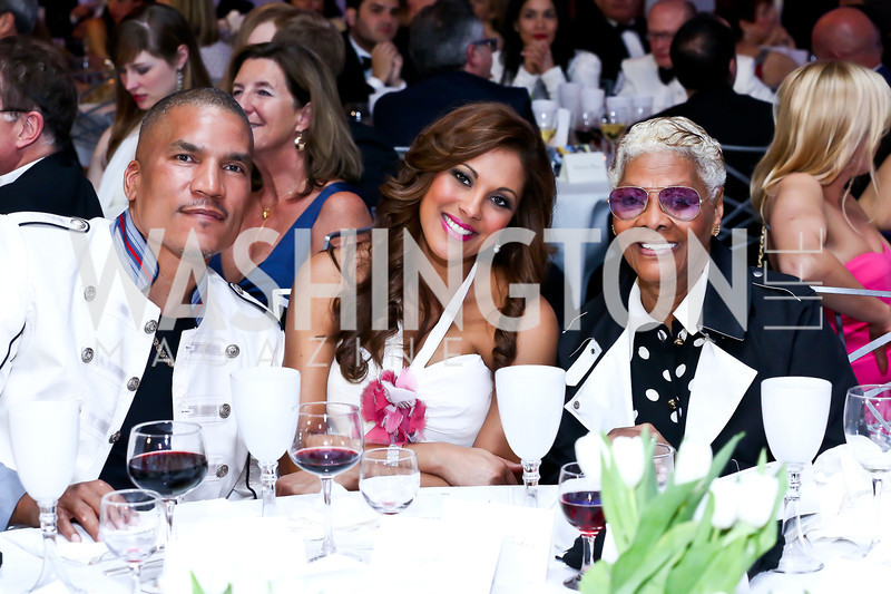 Paxton and Rachel Baker, Dionne Warwick. Photo by Tony Powell. The 2014 Children's Ball. Ritz Carlton. April 11, 2014