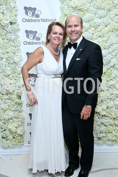 April Delaney and Rep. John Delaney. Photo by Tony Powell. The 2014 Children's Ball. Ritz Carlton. April 11, 2014