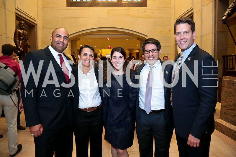 "Kevin Johnson, Kristen Rouse, Stephanie Kline, Dennis Shorts, Brett Hunt. Photo by Tony Powell. ""The Burden"" Screening and Reception. US Capitol Visitors Center. July 24, 2014"