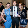 """Stephanie Dreyer, Michael Wu, Jaclyn Houser. Photo by Tony Powell. """"The Burden"""" Screening and Reception. US Capitol Visitors Center. July 24, 2014"""