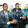 Crispus Gordon, Ahmed Ibrahim. Photo by Tony Powell. The Embassy Row Hotel Rooftop Opening. July 16, 2014