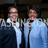 "Rep. Marcia L Fudge, Rep. Maxine Waters. Photo by Tony Powell. ""The Tallest Tree in the Forest"" Opening Night Dinner. January 16, 2014"