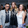 Erwin Gomez, Megan Salvaggio, Sarah Cooper. Photo by Tony Powell. UNICEF Syrian Children Fundraiser. Langhorne residence. June 4, 2014